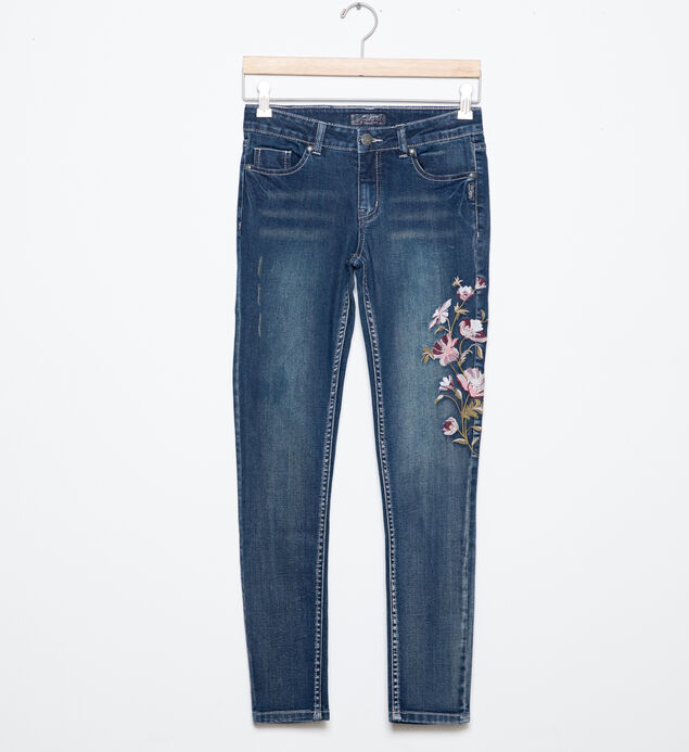 Amy Embroidered Jeggings in Dark Wash (7-16)