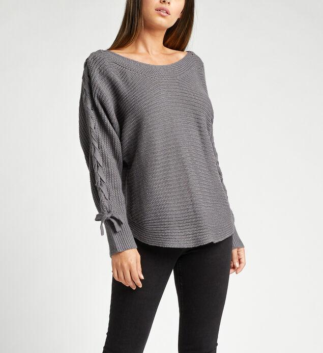 Emmeline Lace Up Sleeve Sweater