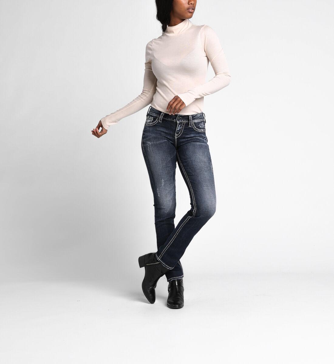 Suki Mid Rise Straight Leg Jeans Alt Image 1