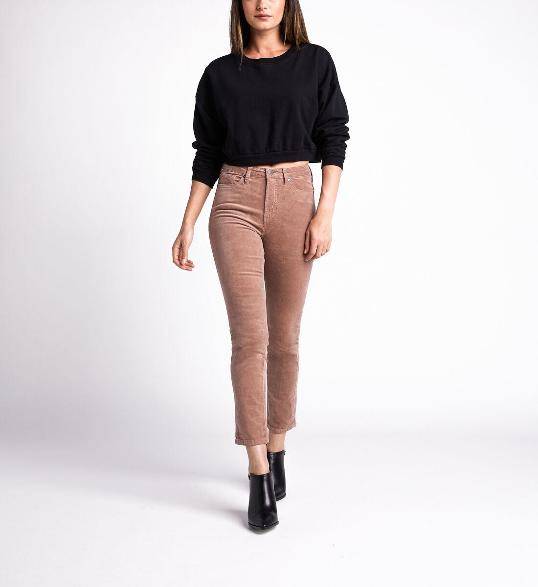 High Note High Rise Slim Leg Pants,Blush Front