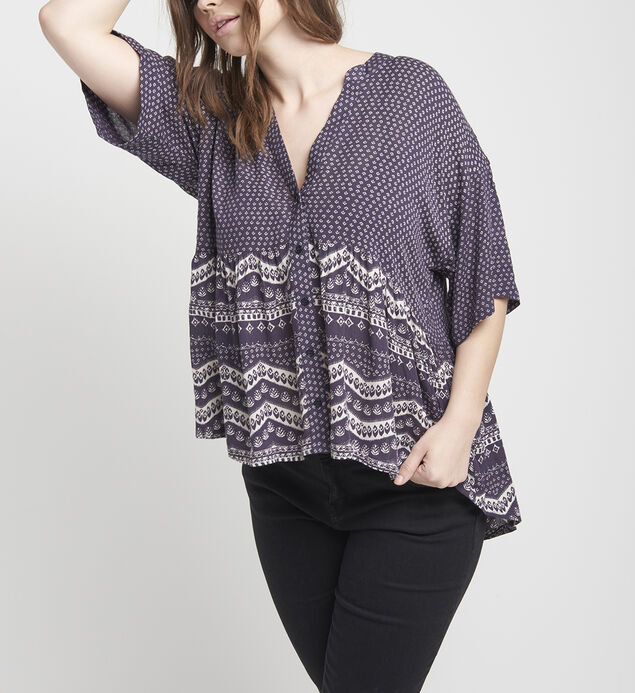 Eden Printed High-Low Blouse