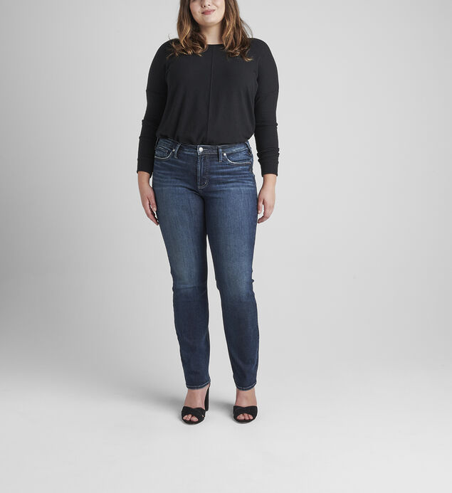 Most Wanted Mid Rise Straight Leg Jeans Plus Size