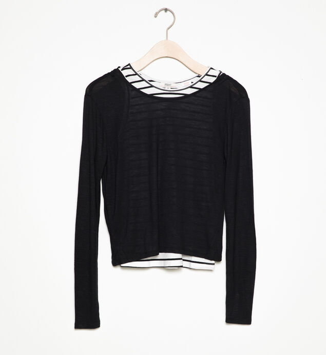 Long-Sleeve Layered Top (4-7), , hi-res