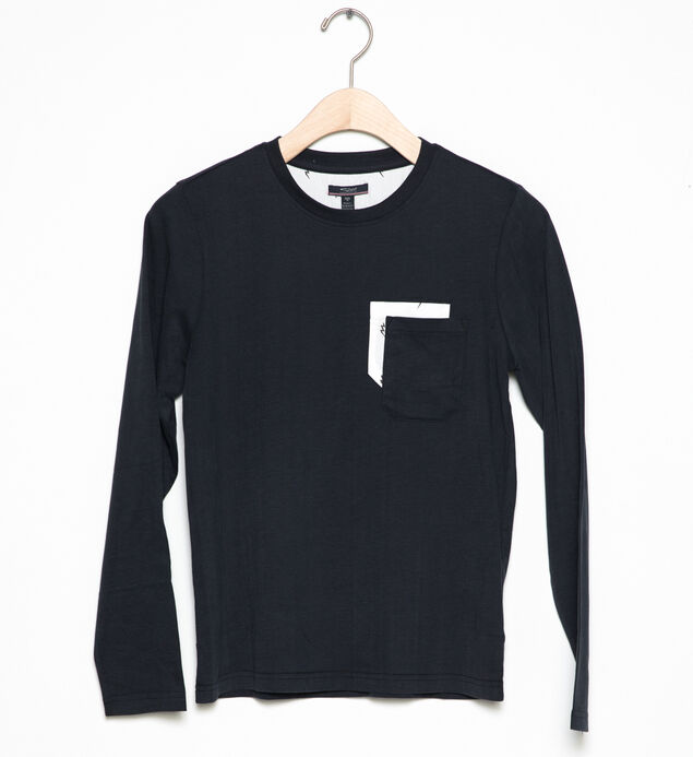 Long-Sleeve Two-Pocket Tee (4-7)
