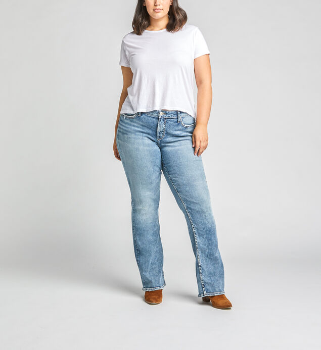 Elyse Mid Rise Bootcut Jeans Plus Size