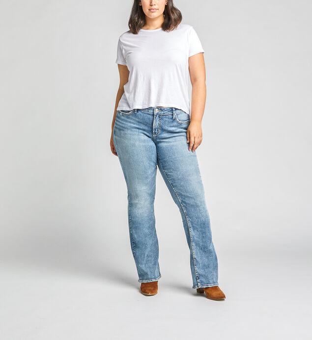 Elyse Mid Rise Bootcut Jeans Plus Size