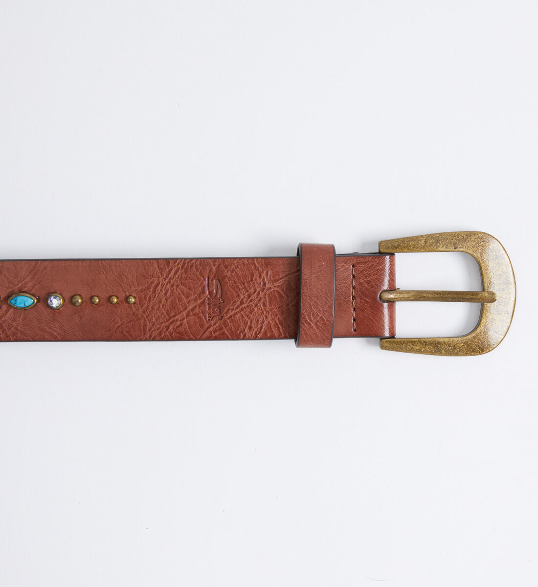 Turquoise Embellished Womens Belt Front