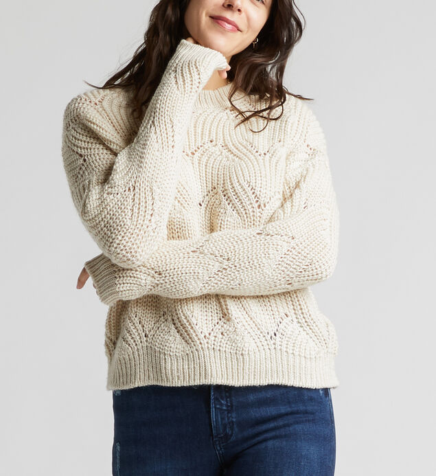 Harriet Crop Cable Knit Sweater