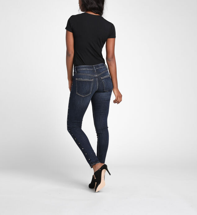 Suki Mid-Rise Curvy Studded Skinny Jeans, , hi-res