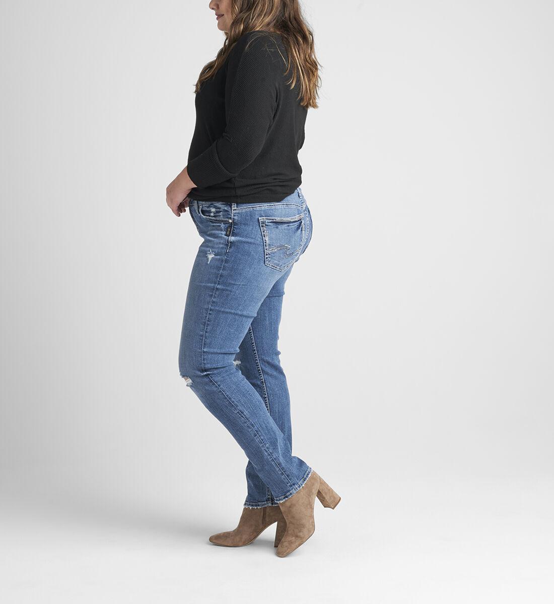 Elyse Mid Rise Straight Leg Jeans Plus Size Side