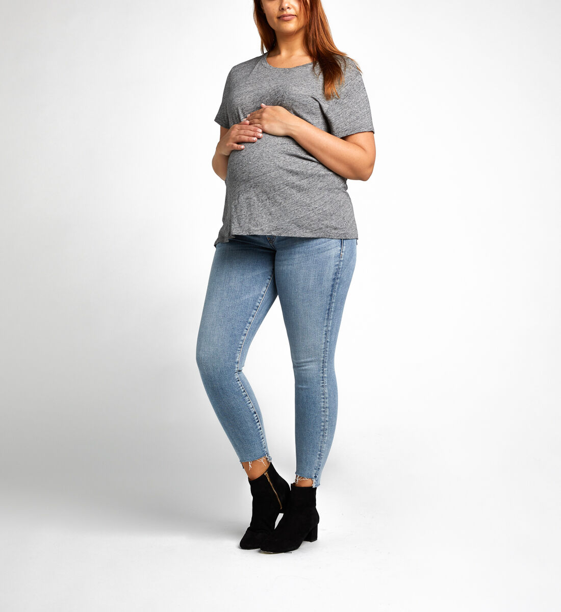 Aiko Ankle Skinny Maternity Jeans Front