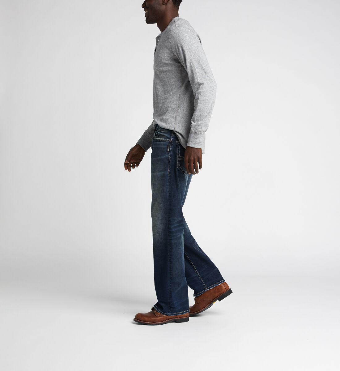 Gordie Loose Fit Straight Jeans,Indigo Side