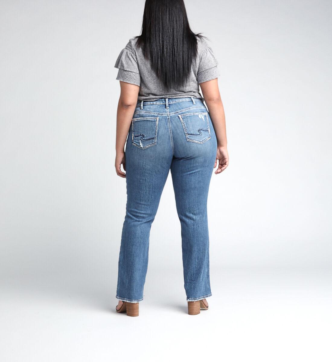Suki Mid Rise Straight Leg JeansPlus Size Back