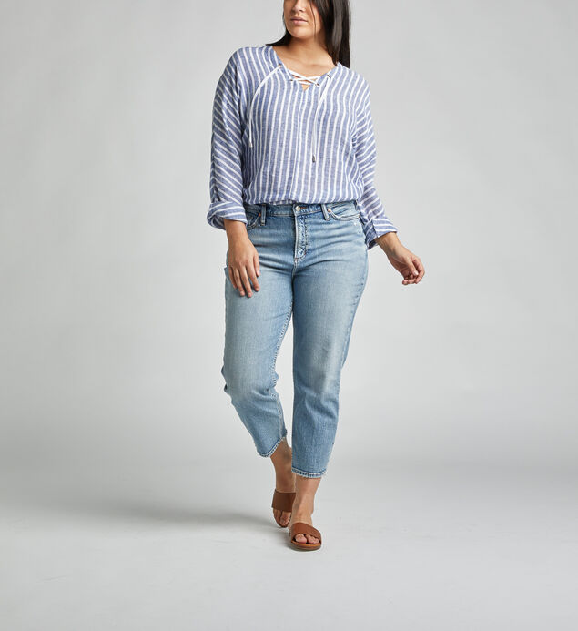 Frisco High Rise Straight Crop Jeans Plus Size
