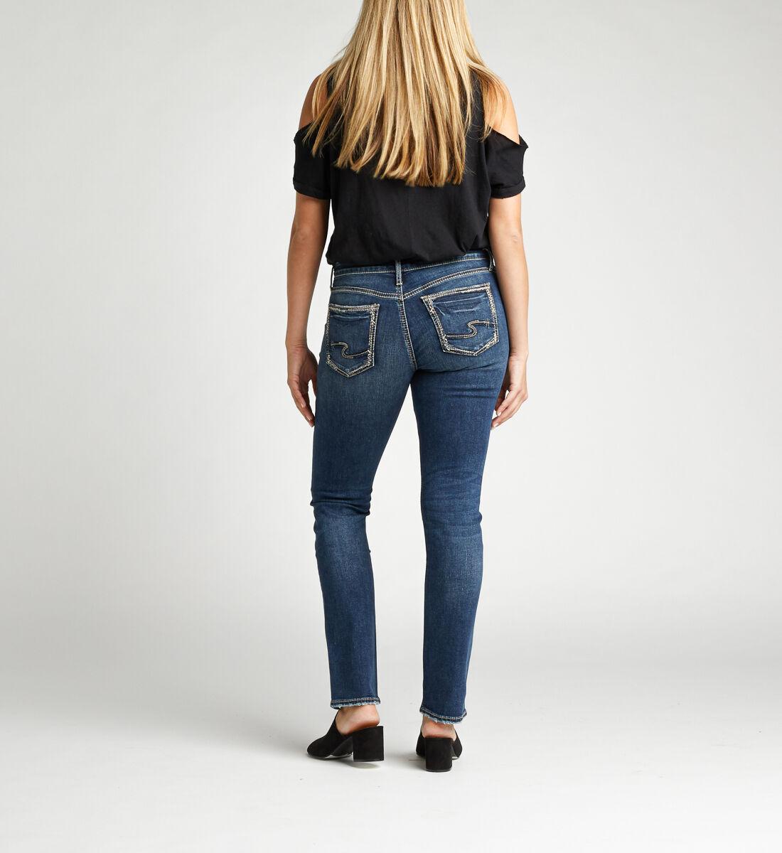 Avery High Rise Straight Leg Jeans Back