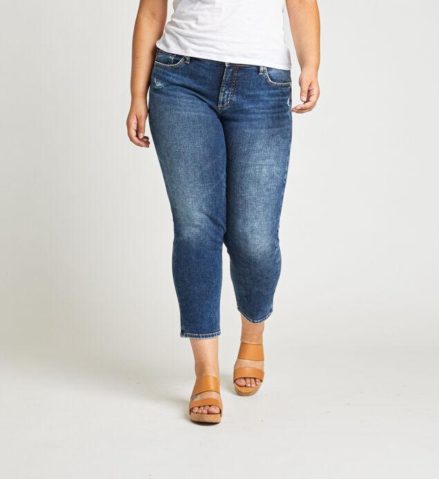 Elyse Mid Rise Slim Crop Jeans Plus Size