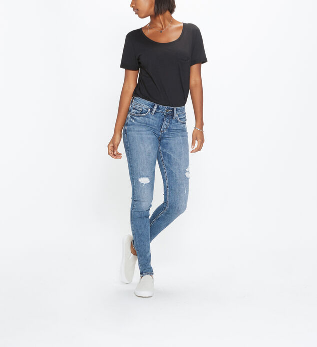Suki Super Skinny Mid Rise Medium Wash