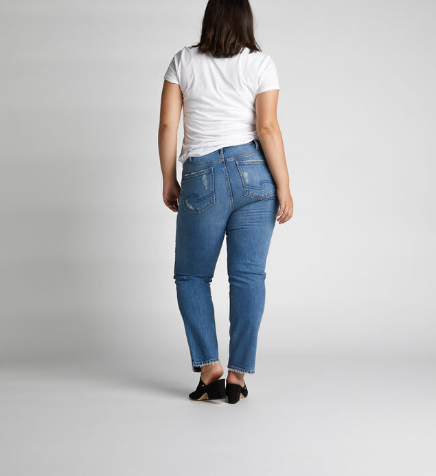 Frisco High Rise Straight Leg Jeans Plus Size, , hi-res