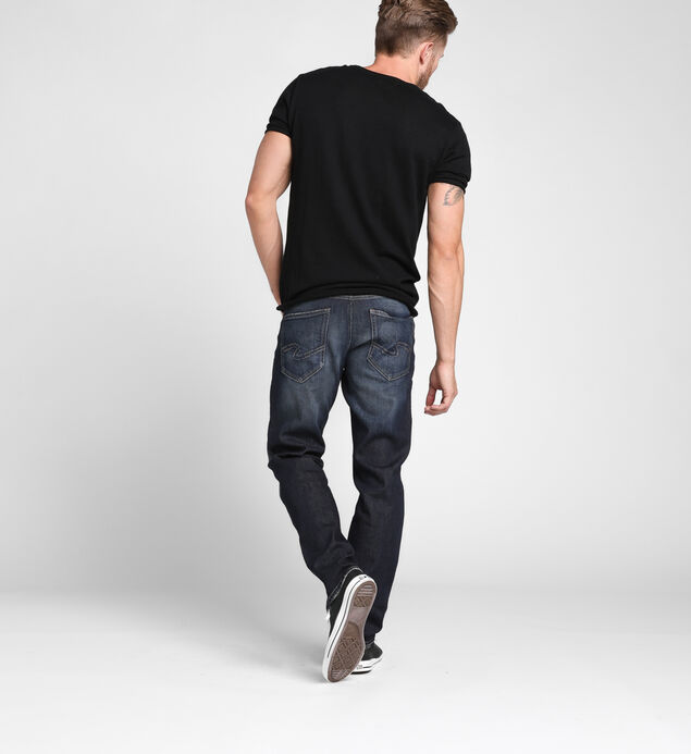Eddie Tapered Leg Dark Wash, , hi-res