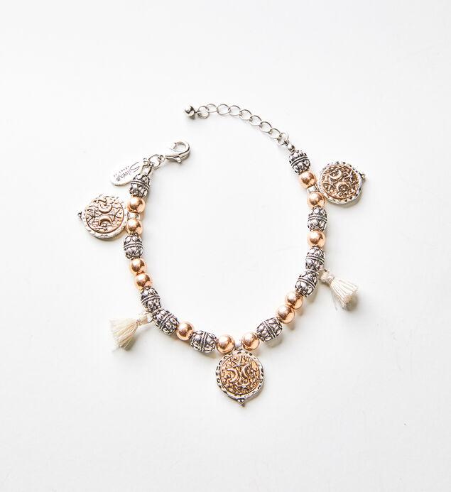 Mixed-Metal Tassel Bracelet
