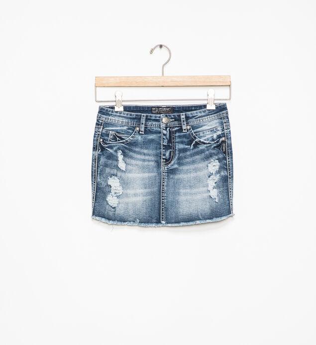 Candice Distressed Denim Skirt (7-16)