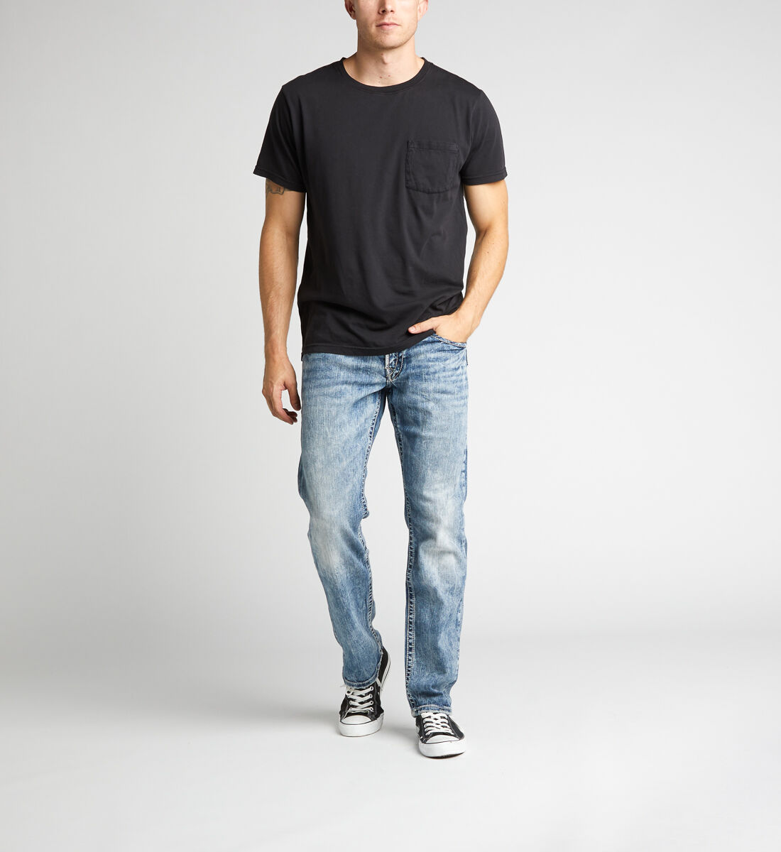 Eddie Relaxed Fit Tapered Leg Jeans Front
