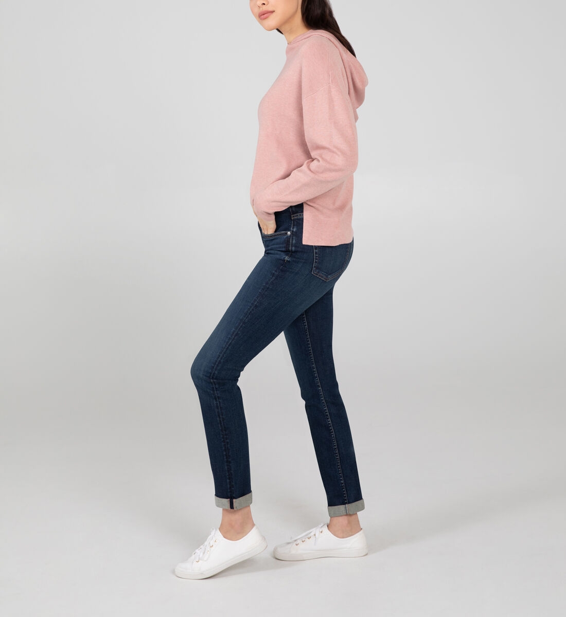 Beau Mid Rise Slim Leg Jeans Side