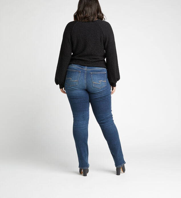 Avery High Rise Straight Jeans Plus Size, Indigo, hi-res