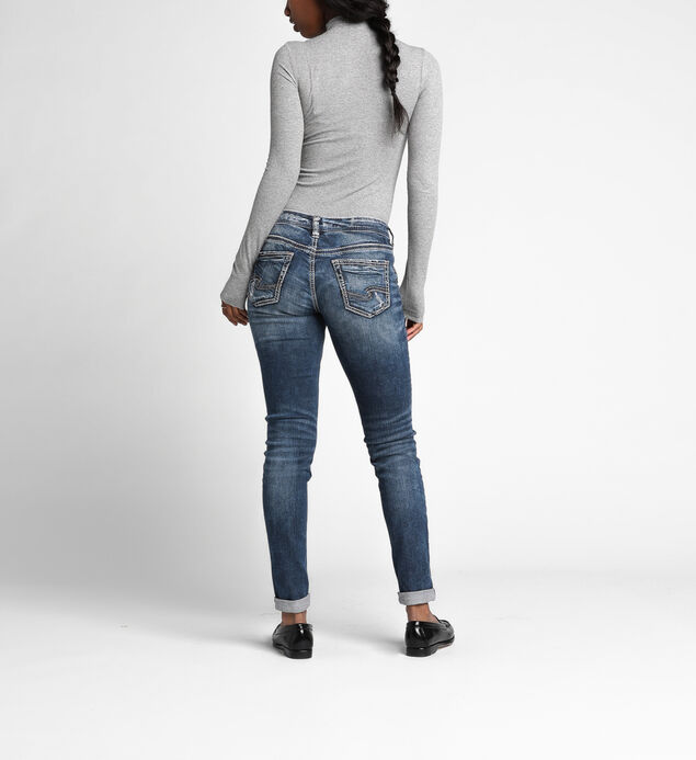 Girlfriend Mid Rise Skinny Leg Jeans, , hi-res
