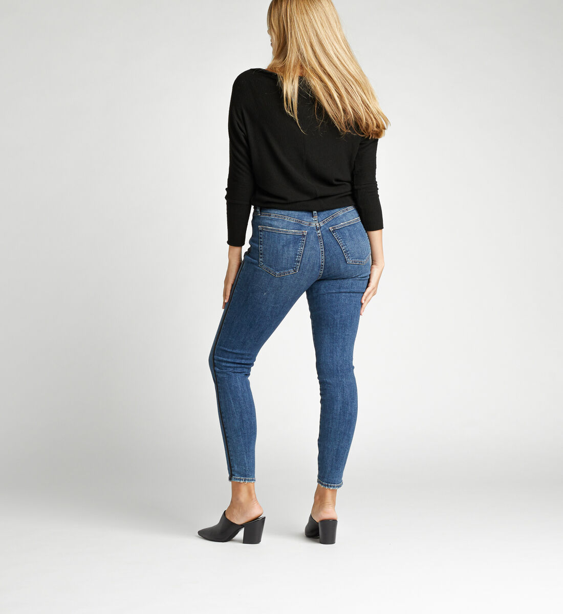 Calley Super High Rise Skinny Jeans Back