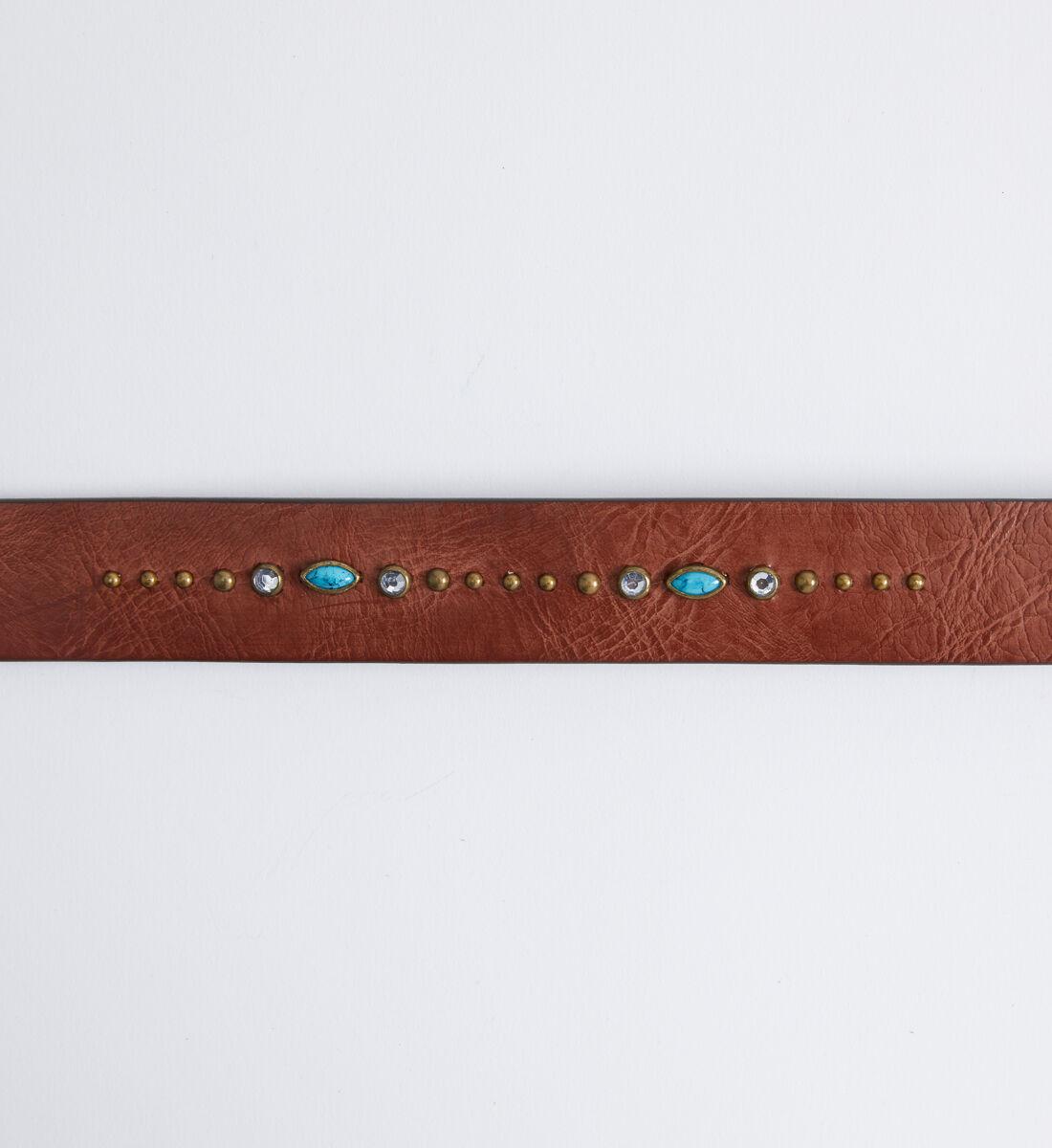 Turquoise Embellished Womens Belt Back
