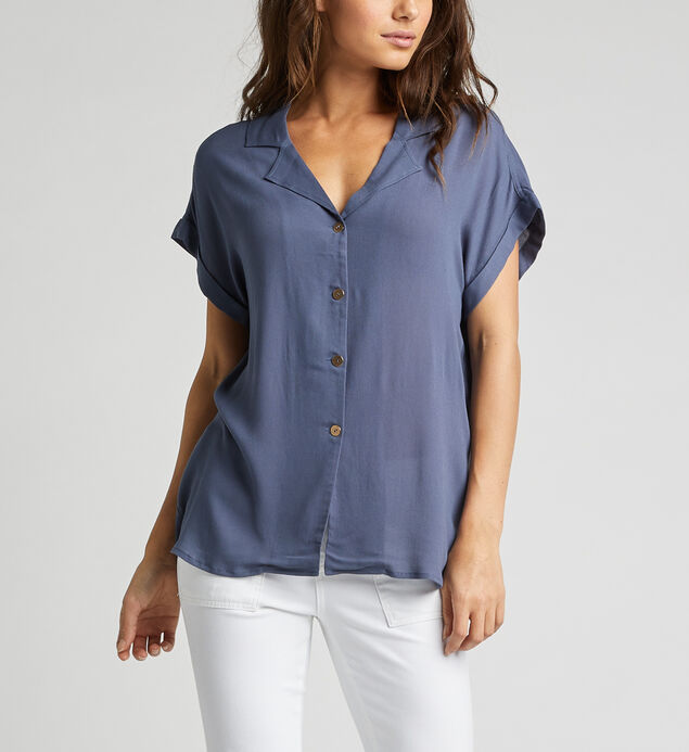 Aria Rolled-Sleeve Shirt