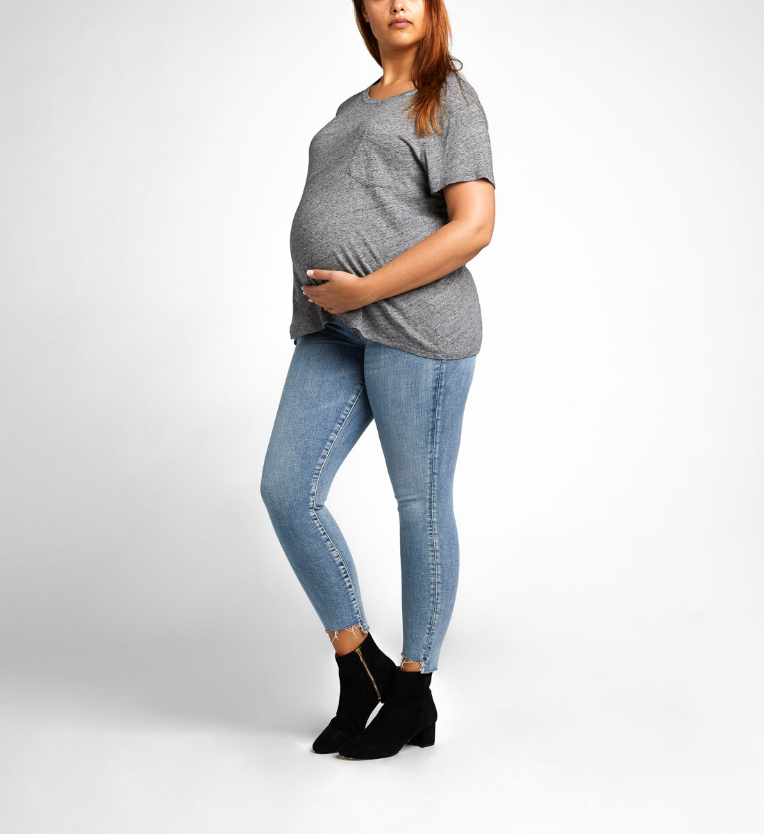 Aiko Ankle Skinny Maternity Jeans Back
