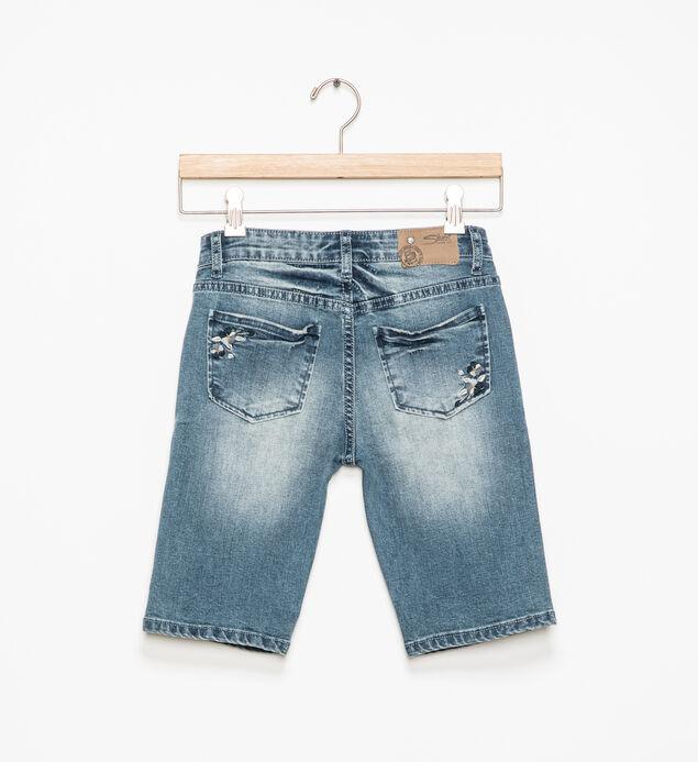 Tina Embroidered Bermuda Shorts (7-16), , hi-res
