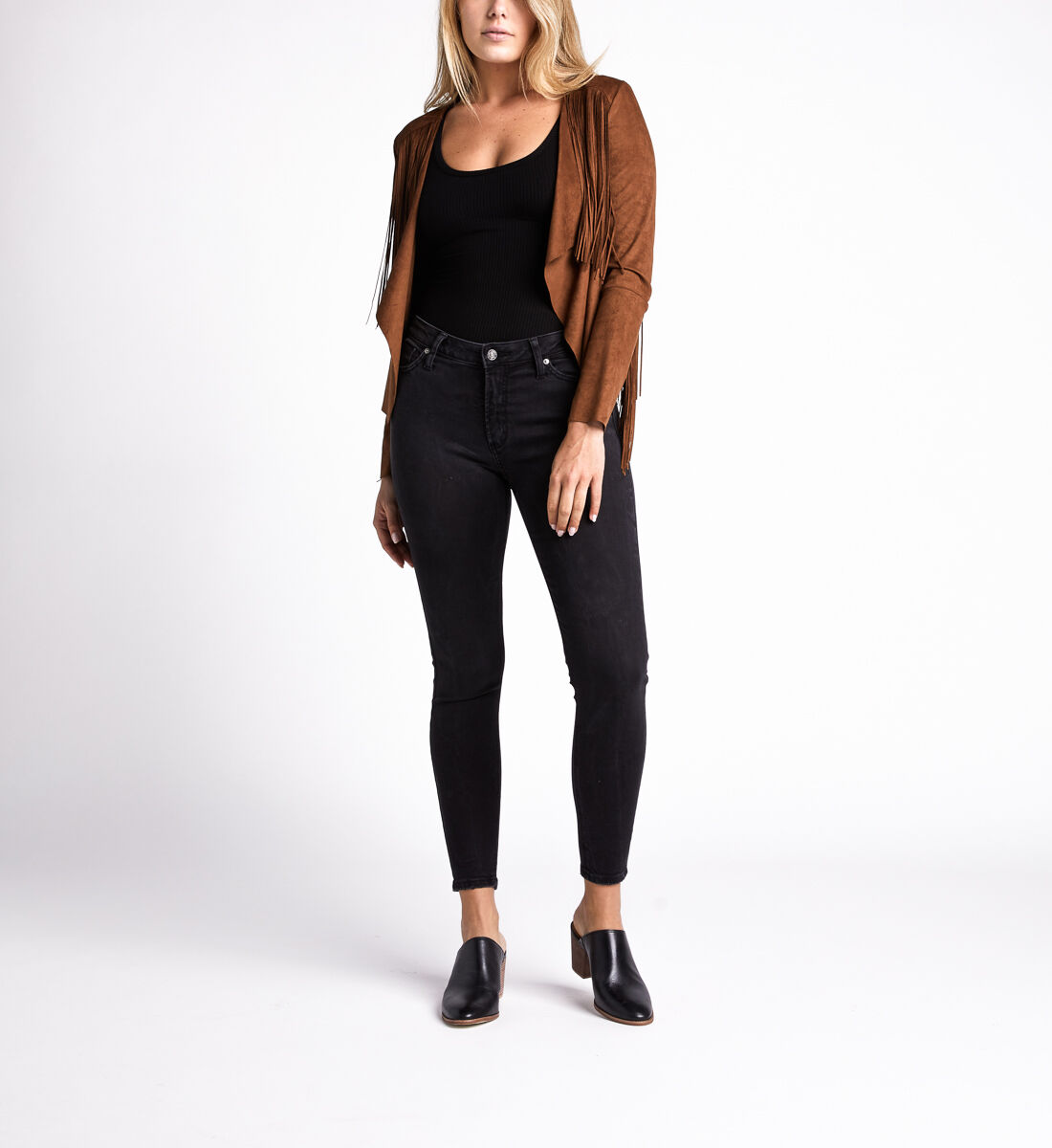 Most Wanted Mid Rise Skinny Leg Jeans,Black Alt Image 1