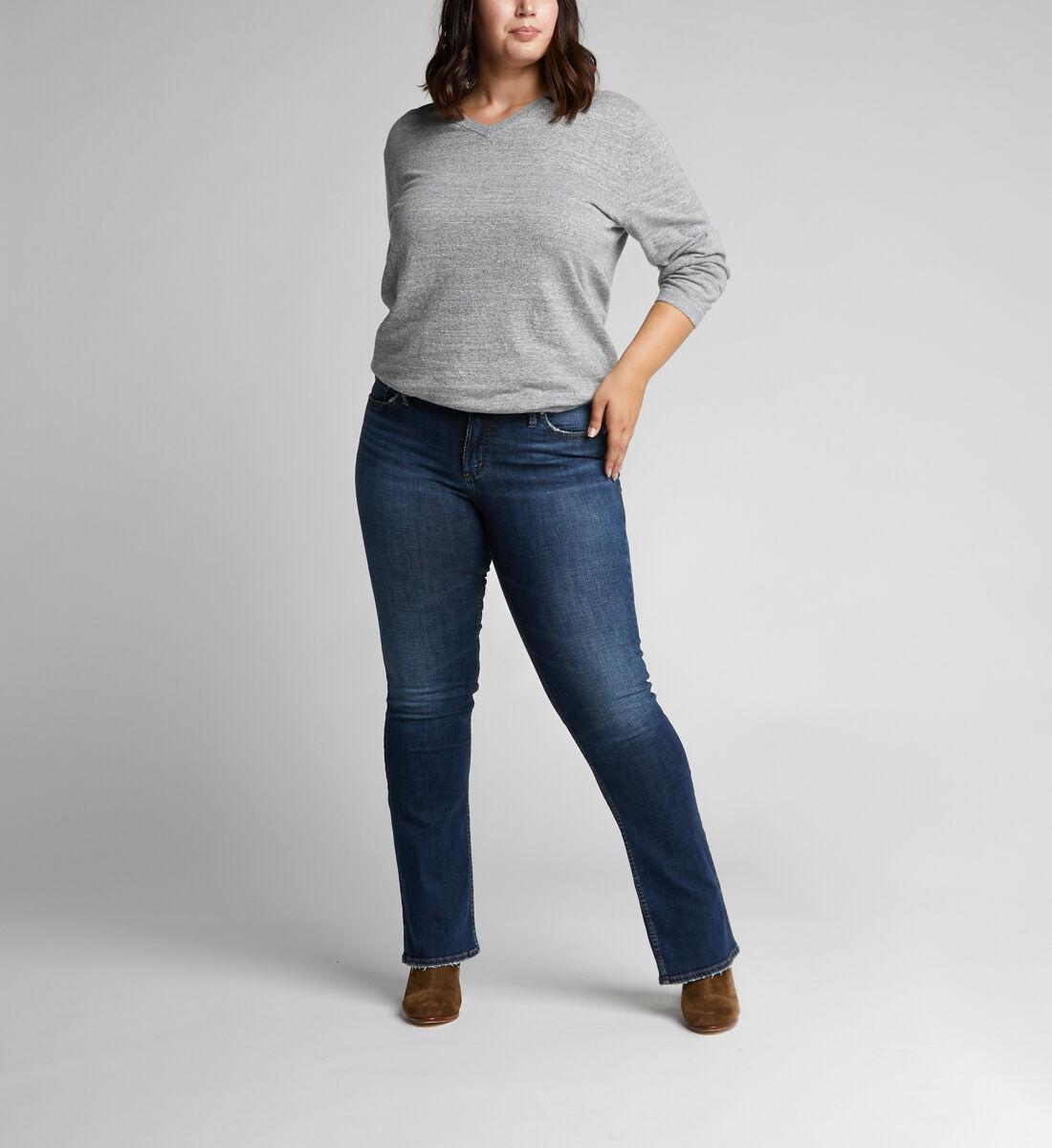 Suki Mid Rise Slim Bootcut Jeans Plus Size Alt Image 1