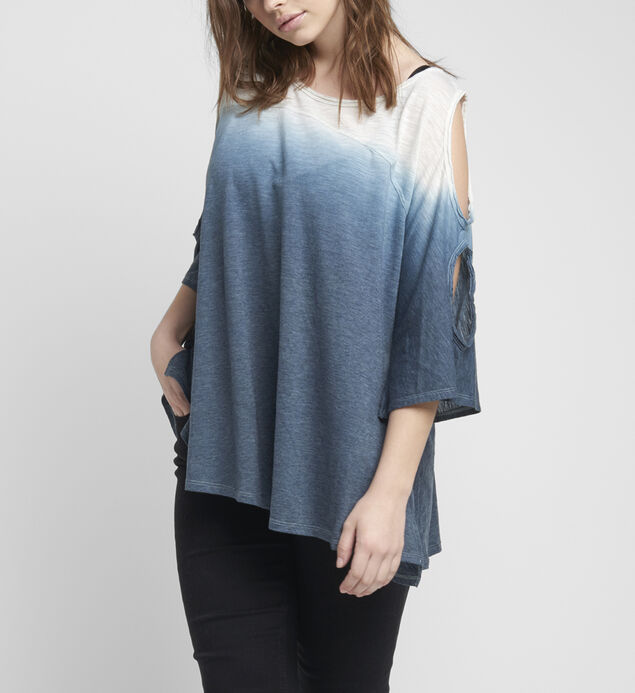 Maddy Ombre Cold-Shoulder Top
