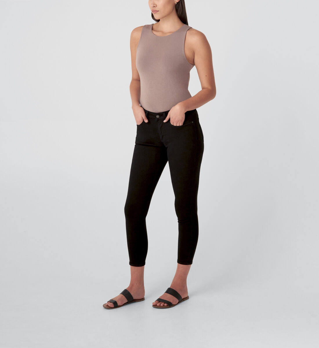 Most Wanted Mid Rise Skinny Jeans,Black Side