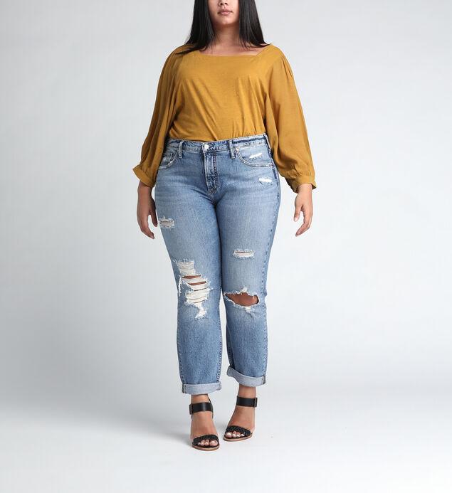 Not Your Boyfriends Jeans Mid Rise Slim Leg JeansPlus Size