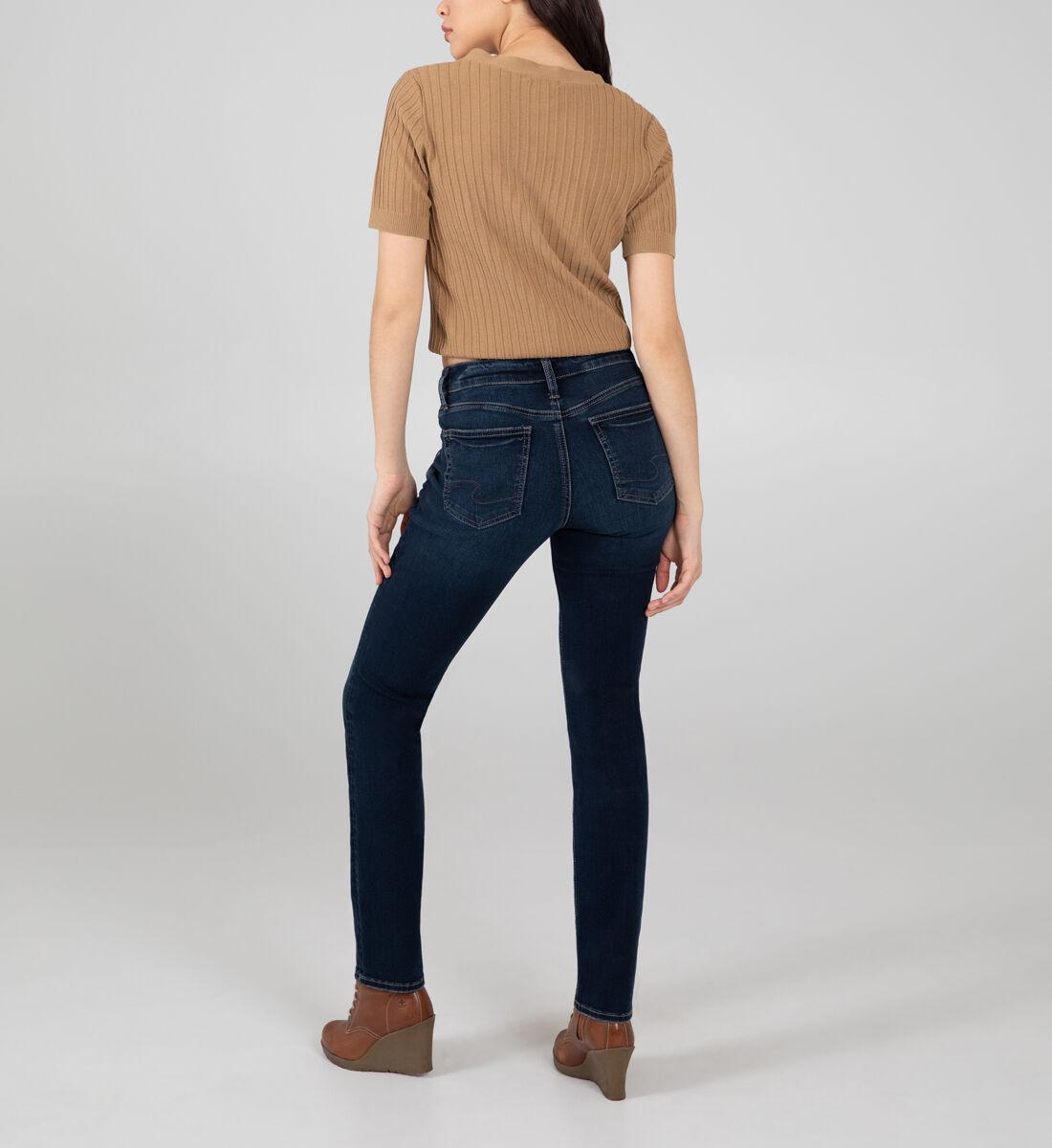 Suki Mid Rise Straight Leg Jeans Back