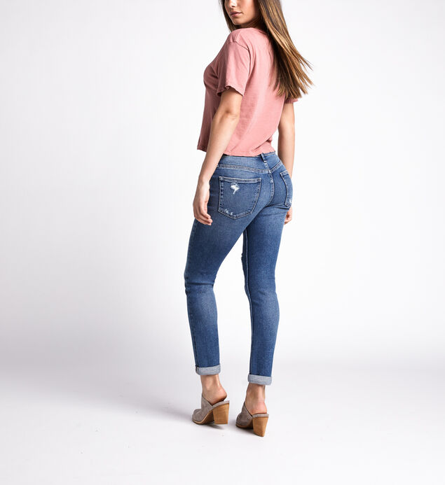 Not Your Boyfriends Jeans Mid Rise Slim Leg Jeans, Indigo, hi-res