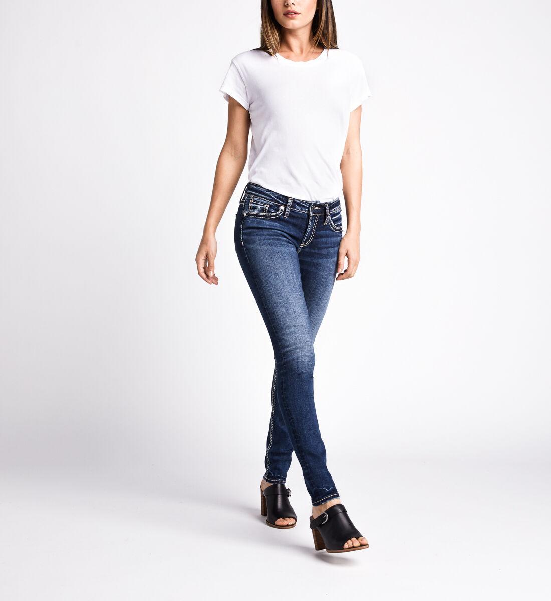 Suki Mid Rise Skinny Leg Jeans,Indigo Front