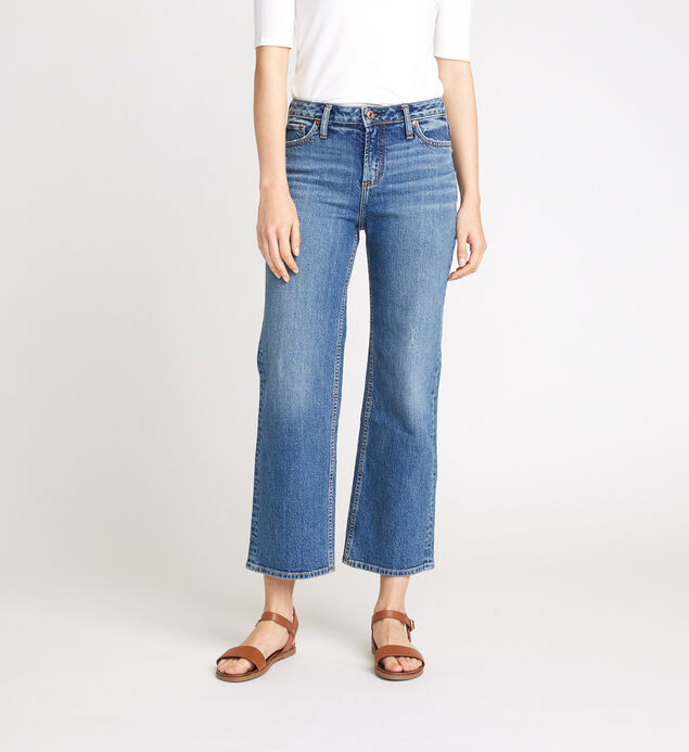 Eyes on Wide High Rise Wide Leg Crop Jeans