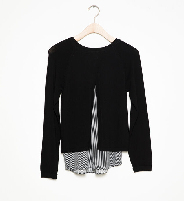 Long-Sleeve Layered Sweater (7-16), , hi-res