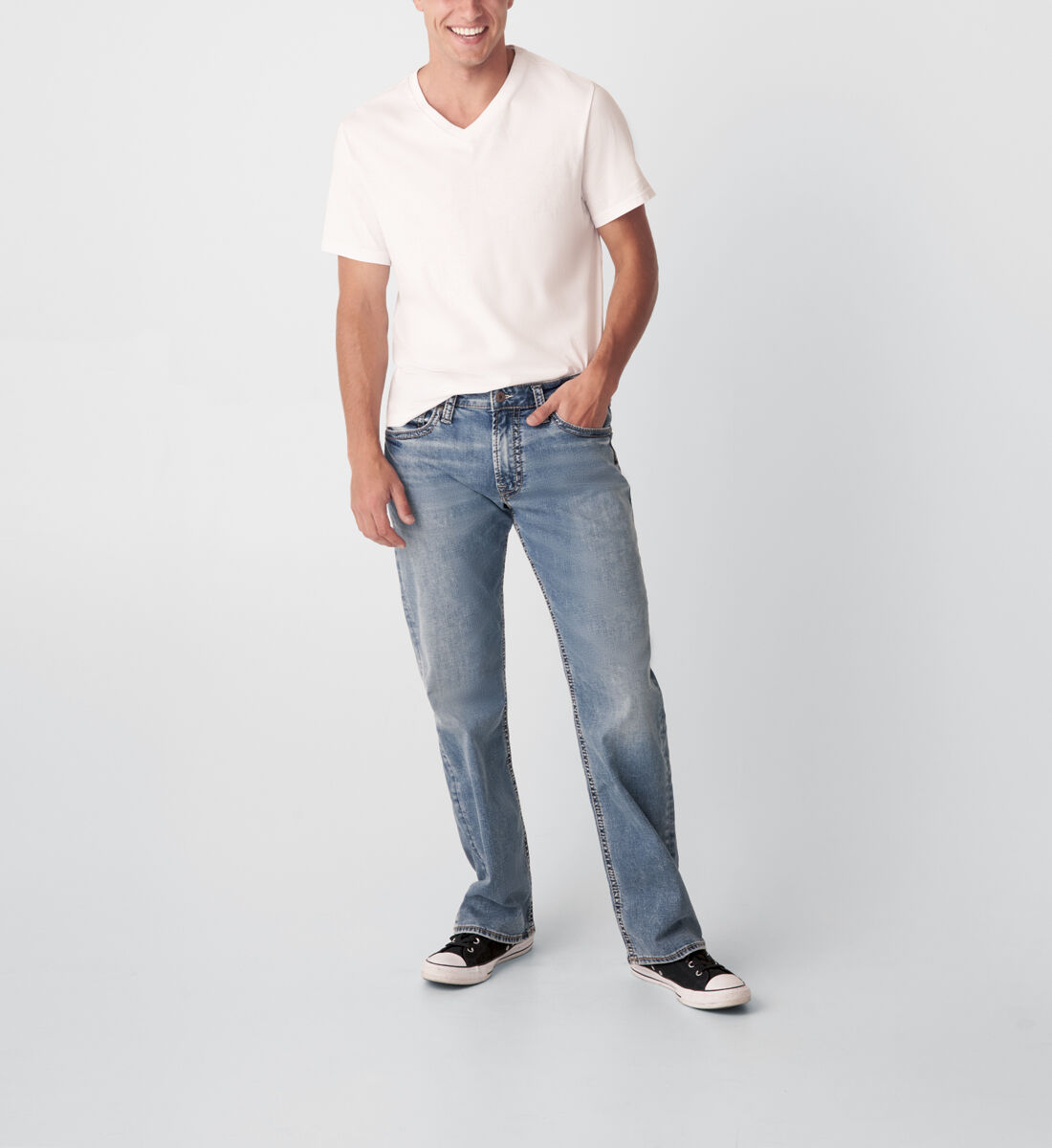 Zac Relaxed Fit Straight Leg Jeans Front