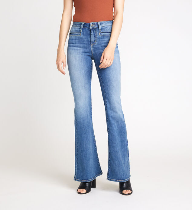 High Note High Rise Flare Leg Jeans