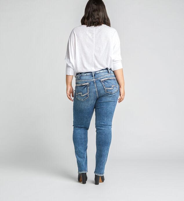 Suki Mid Rise Straight Jeans Plus Size, Indigo, hi-res