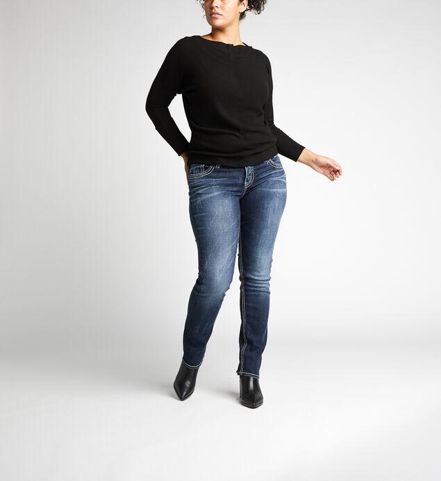 Suki Mid Rise Straight Leg Jeans Plus Size