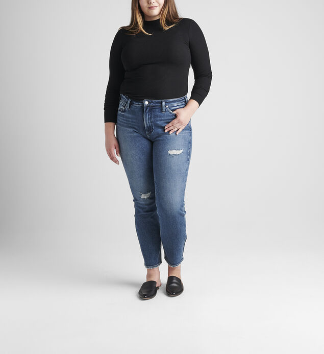 High Note High Rise Straight Leg Jeans Plus Size
