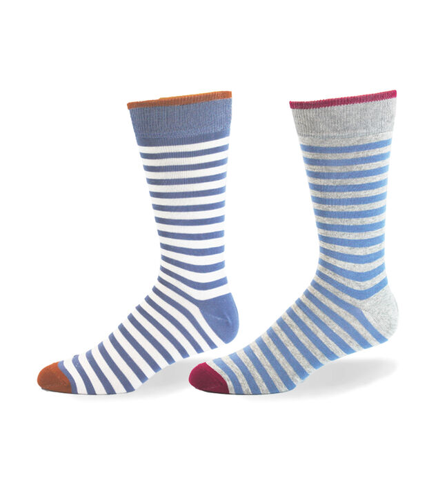 Pinstripe Over-The-Calf Mens Socks
